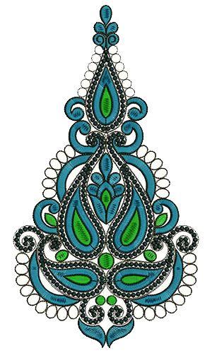 9399 Anarkali Embroidery Design
