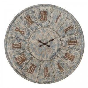 Large Aged Metal Clock