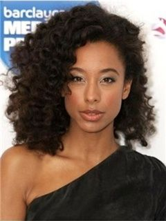 Specially-designed African American Hairstyle Soft Medium Curly Full Lace Wig 100% Human Hair about 16 Inches Item # W5591  Original Price: $780.00 Latest Price: $285.69