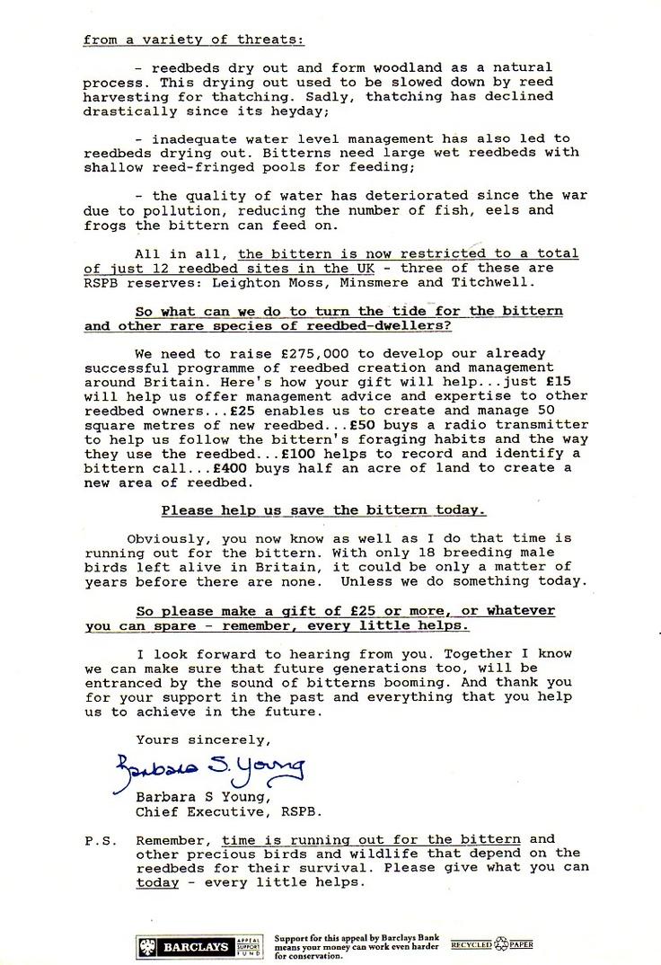 RSPB letter page 2