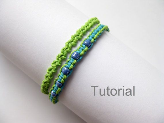 Beginners knotted bracelet tutorials two patterns pdf step ...