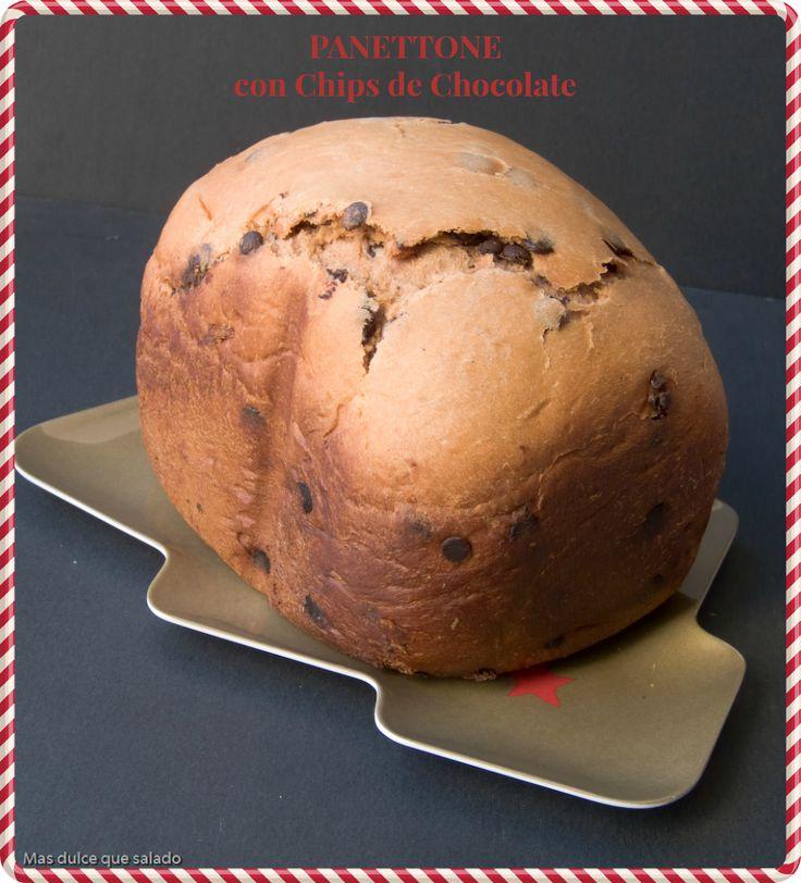 Más dulce que salado: Panettone con Chips de Chocolate en Panificadora