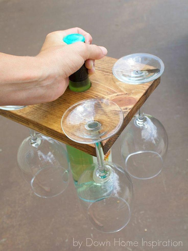 DIY Wine Bottle and Glasses Carrier | Hometalk