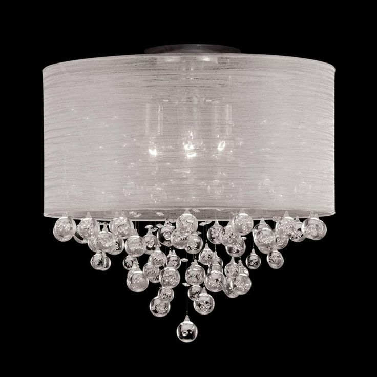 Drum Shade Bubble Globe Crystal Ball Pendant Light #Chandelier #DIY Inspiration #ceiling fan cover