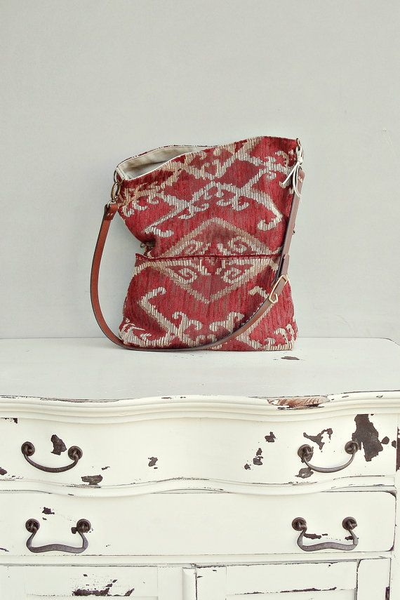 Southwest Tote Bag Aztec Cross Body Purse by MondayMorningStudios