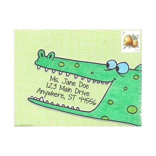 How fun would it be to receive this letter?!  Made with Amused Alligator by Inky Antics! #happymail