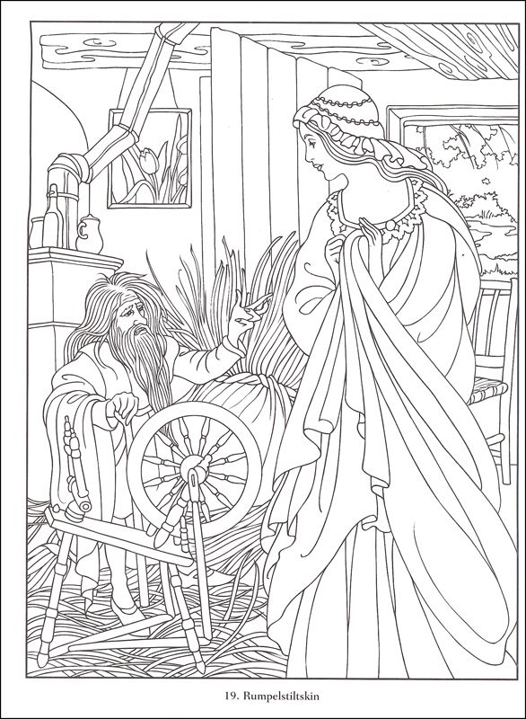 fairy tale coloring book pages - photo#44