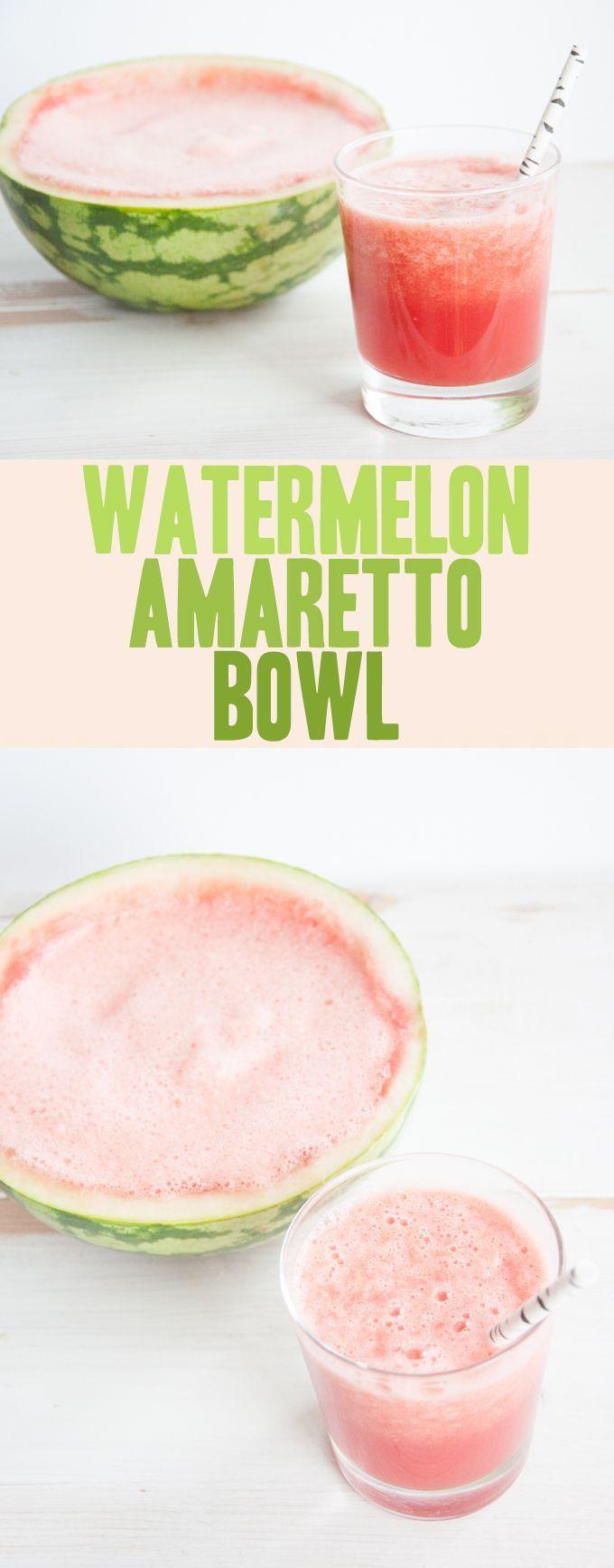 Watermelon Amaretto Bowl | ElephantasticVegan.com