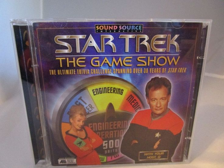 Star Trek: The Game Show (PC, 1998) Complete Sound Source Interactive Trivia