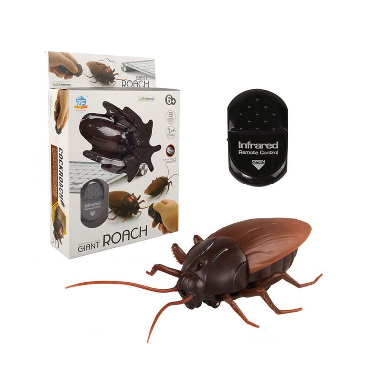 Remote Control Realistic Fake Cockroach Rc Prank Insects Joke Scary Trick Toys F