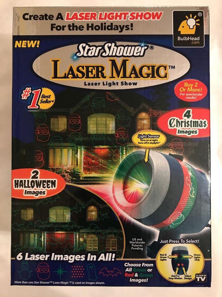 Star Shower Laser Magic 2 Halloween And 4 Christmas Figures Bulbhead  | eBay