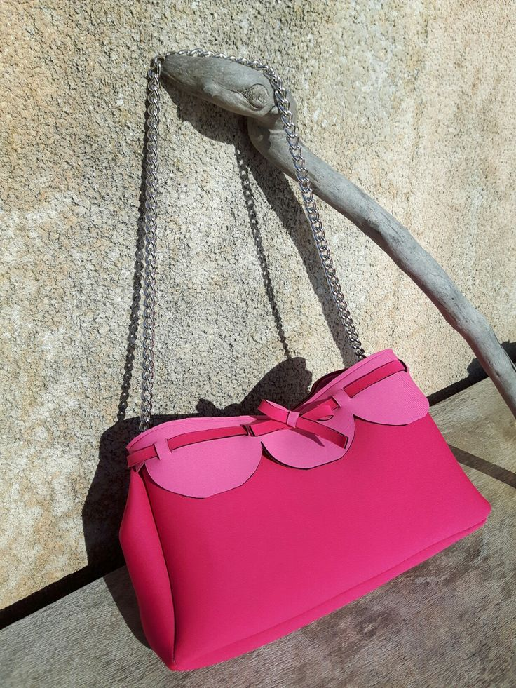 Borsa in neoprene modello Birkin  Handbag  - by Polesse Hand Made