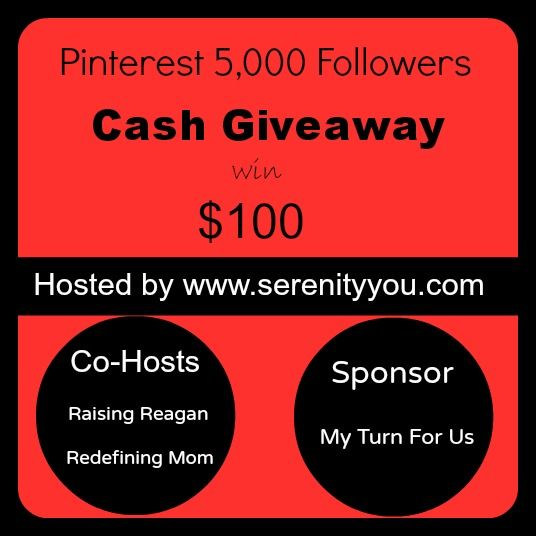 Pinterest 5000 Followers - Cash Giveaway! (ww) ends 8th May
