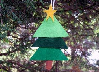 Easy Layered Christmas Tree Craft: Christmas Crafts for Kids - Homemade Ornaments - Kaboose.com