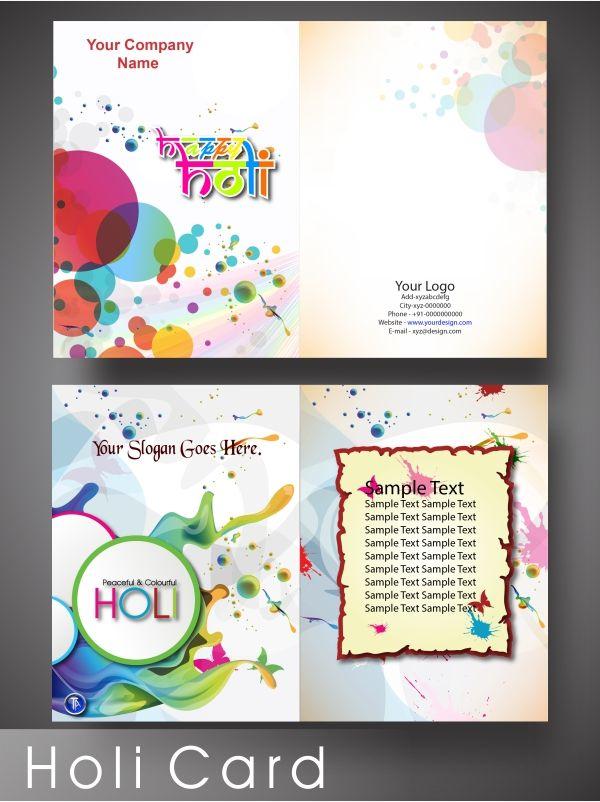 Holi Card Making Ideas Part - 15: Creative Design: Craetive Holi Greeting Card