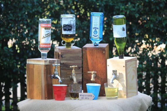 Handgemachte hölzerne Liquor Dispenser 30 % von WoodnToysbyDyl