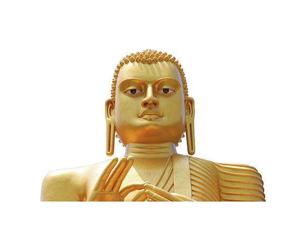 Golden Budha by Svetlana Yelkovan #SvetlanaYelkovanFineArtPhotography #SriLanka #ArtForHome #FineArtPrints #Budha