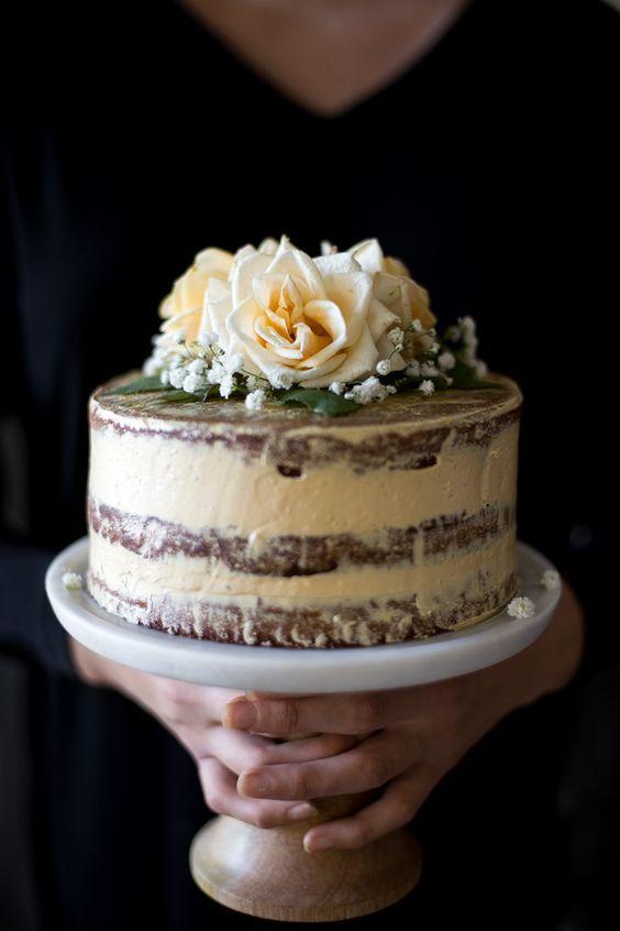 salted honey & orange blossom naked cake