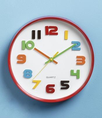 Crayon themed playroom clock.