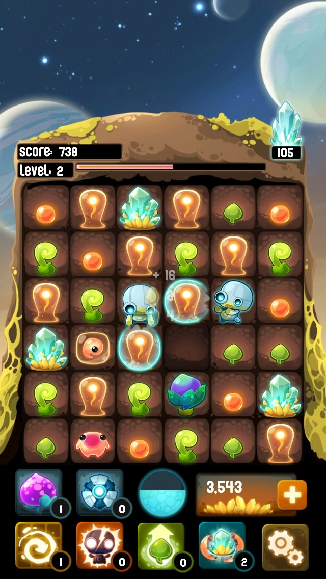 Slide And Match-Three Your Way To Supreme Aliens In Alien Hive -- AppAdvice