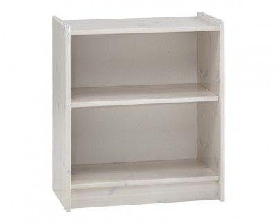 Steens Whitewash Low Bookcase