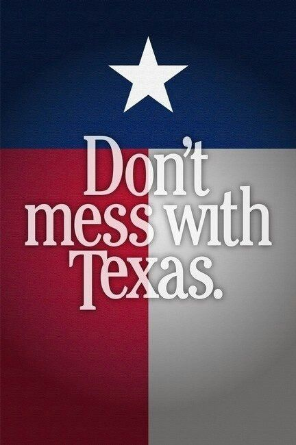 Texas pride ~ that's what you really don't want to mess with!