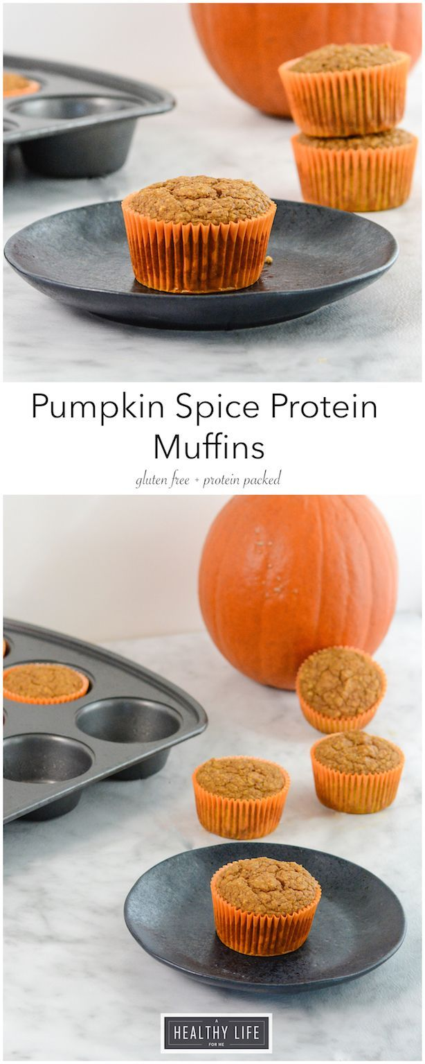 Pumpkin Spice Protein Muffins are filled fabulous pumpkin flavor, fiber, potassium and tons of protein.  Making them the perfect way to start your day.- A Healthy Life For Me