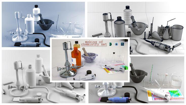 making of chemistry set, Francesco Paletta on ArtStation at https://www.artstation.com/artwork/lyXmk