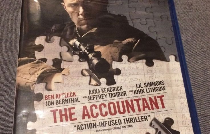 The Accountant (Blu-ray Disc 2017) Ben Affleck Anna Kendrick JK Simmons