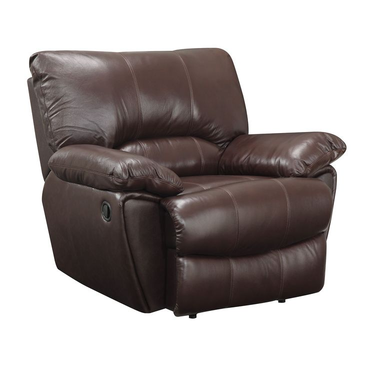 Coaster Company Power Recline Brown Leather Recliner Chair (Power Recliner)