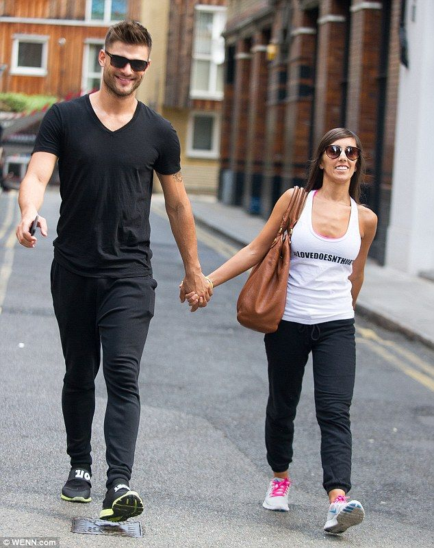 Happy couple: Newly-engaged Aljaz Skorjanec, 25, and Janette Manrara, 31, arrived at training hand-in-hand, as they are set to compete in their first show as husband-and-wife-to-be