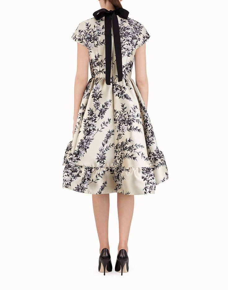 FENDI SHORT DRESS - Multicolor silk dress - view 2 detail