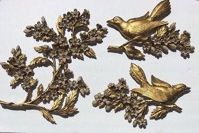 Vintage 1967 Home Interiors Homco Dart Gold Birds Branch Dogwood Cherry Blossom    eBay
