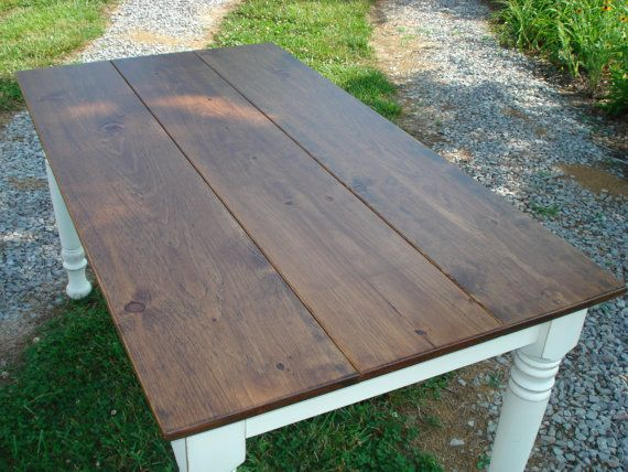 Great Distressed Farmhouse Table, Farm Tables On Etsy, Etsy Dining Tables,  Kitchen Table Dining