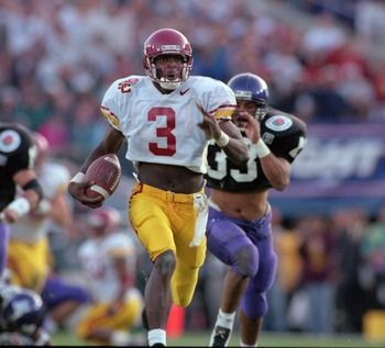 Keyshawn Johnson was the MVP of the 1996 Rose Bowl vs Northwestern - Moses/Charlton Heston was a Wildcat but God is a Trojan!