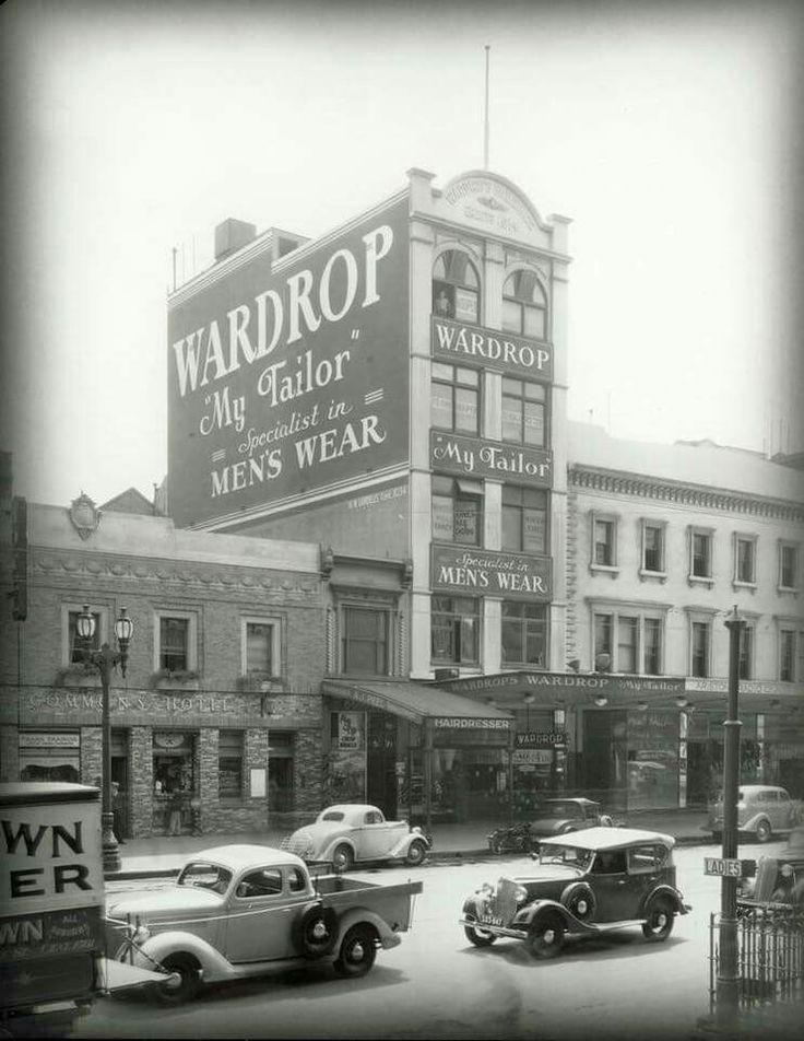 Wardrop's Building on Elizabeth St,Melbourne in Victoria in the 1930s.