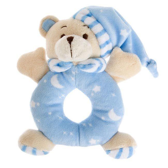 igiftFRUITHAMPERS.com.au - Sleepytime Teddy Bear Rattle Blue (15cm.HT), $6.45 (http://www.igiftfruithampers.com.au/sleepytime-teddy-bear-rattle-blue-15cm-ht/)