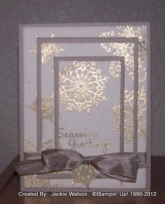 Christmas CardEmbossing Snowflakes, Christmas Cards, Christmas Hallmark, Cards Ideas, Cards Scrapbook, Cards Christmas, Creative Design, Snowflakes Triple, Jackie Beautiful Cards