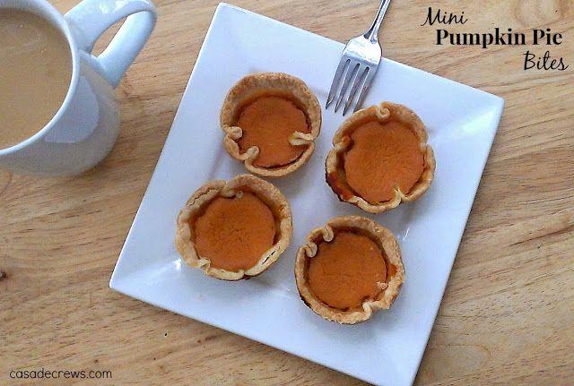 Mini Pumpkin Pie {Bites}   Casa de Crews
