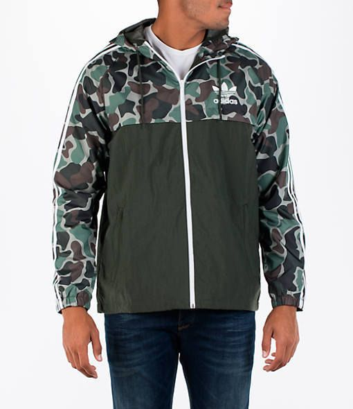 adidas Men's Originals Camouflage Windbreaker Jacket