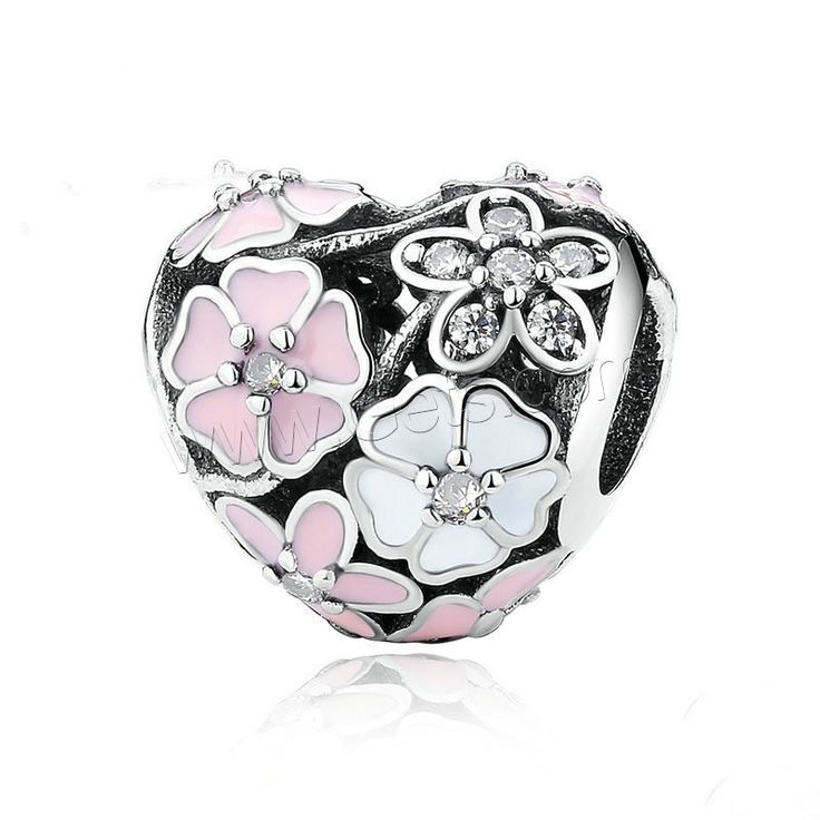 Dream 925 Sterling Silver Beads Pink Cubic Zirconia Charms Fashion Jewelelry Birthday Fit European Bracelet vgajAaKBy4