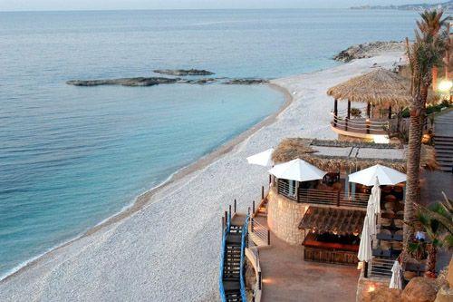 Bonita Bay, Batroun (north) Lebanon  Beautiful white stone beaches. Also greta fun saturday nights with DJ