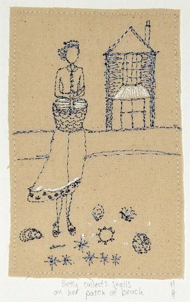 ♒ Enchanting Embroidery ♒  Michelle Holmes - Its Friday and Betty collects shells on her patch of beach