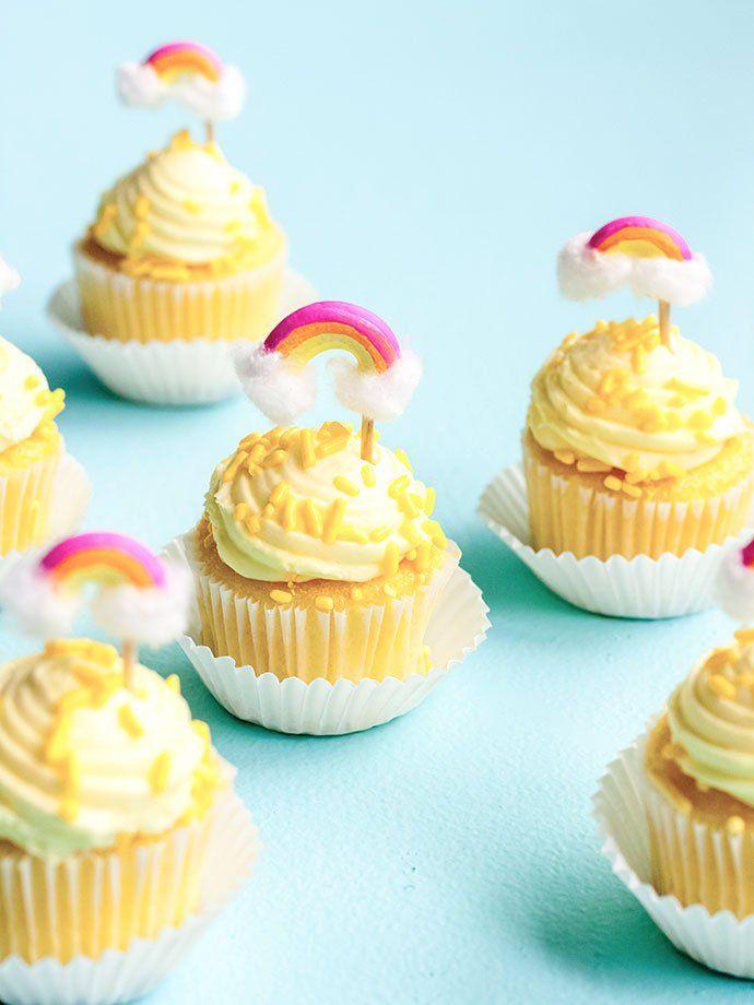 Macaroni Rainbow Cupcake Toppers | Rainbow cupcakes, Mini ...