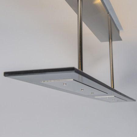 Deckenleuchte Credo 4 schwarz: Sehr schöne Deckenleuchte, bestehend aus einer geraden Glasplatte mit LED-Beleuchtung. Sehr minimalistisch und überall einsetzbar. #glas #innenbeleuchtung #deckenleuchte #modern