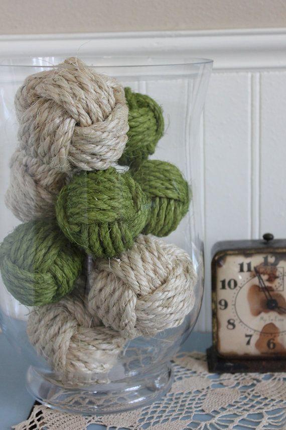 Decorative Rope Balls Magnificent 218 Best J Images On Pinterest  Bedspread Blankets And Craft Decorating Design