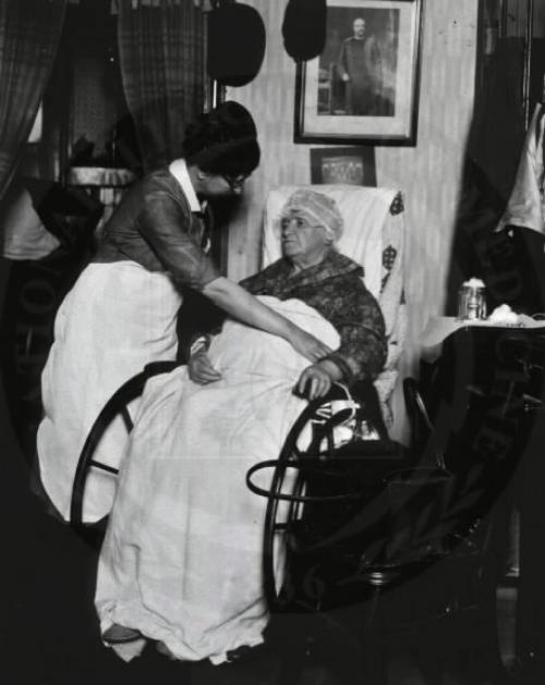 """Nursing began to emerge as a profession in the late 19th century, along with professional """"home health care."""" The newly created hospitals needed nurses to care for their patients, and developed schools to train them. As trained nurses became available, wealthier families sometimes hired them as live-in care providers for invalids and the elderly."""