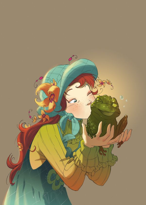 Kissing a frog!