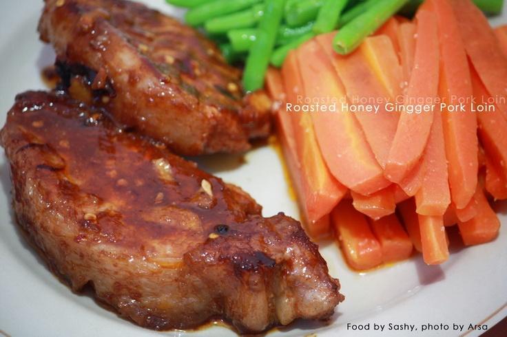 Roasted Honey Ginger Pork Loin