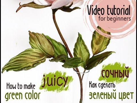 Complete video tutorial how to make juicy green color for somebana techn...